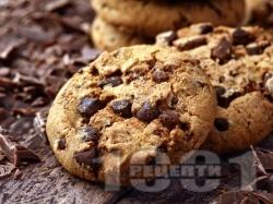 Бисквити с парченца шоколад – класическа рецепта - снимка на рецептата